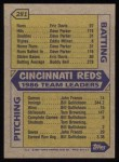 1987 Topps #281  Reds Leaders  /  Pete Rose  -  Pete Rose Back Thumbnail