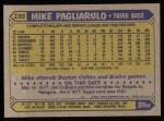 1987 Topps #195  Mike Pagliarulo  Back Thumbnail