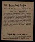 1939 Play Ball #155  James Outlaw  Back Thumbnail