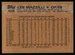 1988 Topps #308  Lee Mazzilli  Back Thumbnail