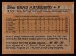 1988 Topps #159   Brad Arnsberg Back Thumbnail