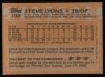 1988 Topps #108   Steve Lyons Back Thumbnail