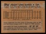 1988 Topps #142   Andy Van Slyke Back Thumbnail