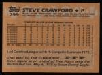 1988 Topps #299  Steve Crawford  Back Thumbnail