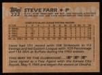 1988 Topps #222  Steve Farr  Back Thumbnail