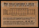 1988 Topps #113   Kelly Gruber Back Thumbnail