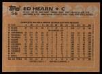 1988 Topps #56  Ed Hearn  Back Thumbnail
