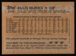 1988 Topps #269  Ellis Burks  Back Thumbnail