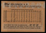 1988 Topps #336   Ed Lynch Back Thumbnail