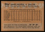 1988 Topps #377   Sam Horn Back Thumbnail