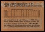 1988 Topps #469   Jeff Dedmon Back Thumbnail