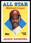 1988 Topps #398  All-Star  -  Juan Samuel Front Thumbnail