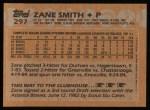 1988 Topps #297   Zane Smith Back Thumbnail