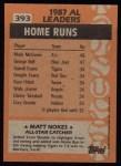 1988 Topps #393  All-Star  -  Matt Nokes Back Thumbnail
