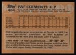 1988 Topps #484  Pat Clements  Back Thumbnail