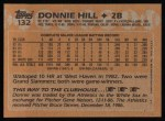 1988 Topps #132   Donnie Hill Back Thumbnail