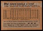 1988 Topps #196   Dave Engle Back Thumbnail