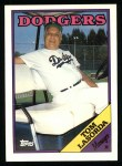 1988 Topps #74  Tommy Lasorda  Front Thumbnail