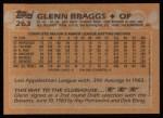 1988 Topps #263   Glenn Braggs Back Thumbnail