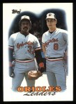1988 Topps #51  Orioles Team Leaders  -  Cal Ripken / Eddie Murray Front Thumbnail
