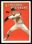 1988 Topps #6  Record Breaker  -  Nolan Ryan Front Thumbnail