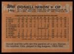 1988 Topps #146  Donell Nixon  Back Thumbnail
