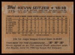 1988 Topps #275   Kevin Seitzer Back Thumbnail