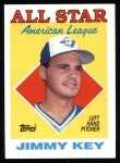 1988 Topps #395  All-Star  -  Jimmy Key Front Thumbnail