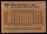 1988 Topps #17  Ron Oester  Back Thumbnail