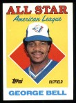1988 Topps #390  All-Star  -  George Bell Front Thumbnail