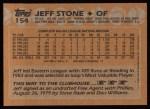 1988 Topps #154  Jeff Stone  Back Thumbnail