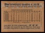 1988 Topps #206   Domingo Ramos Back Thumbnail