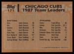 1988 Topps #171  Shawon Dunston  Back Thumbnail