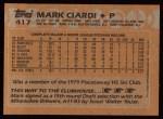 1988 Topps #417   Mark Ciardi Back Thumbnail