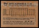 1988 Topps #43   Dick Schofield Back Thumbnail