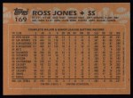 1988 Topps #169   Ross Jones Back Thumbnail