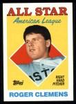 1988 Topps #394   -  Roger Clemens All-Star Front Thumbnail