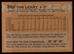 1988 Topps #367   Tim Leary Back Thumbnail