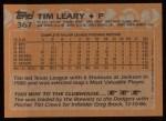 1988 Topps #367  Tim Leary  Back Thumbnail