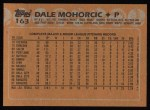 1988 Topps #163   Dale Mohorcic Back Thumbnail