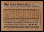 1988 Topps #32  Mike Morgan  Back Thumbnail
