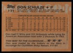 1988 Topps #131  Don Schulze  Back Thumbnail