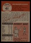 1953 Topps #41   Enos Slaughter Back Thumbnail