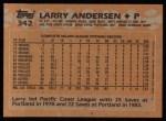 1988 Topps #342   Larry Andersen Back Thumbnail