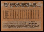 1988 Topps #368   Gerald Young Back Thumbnail
