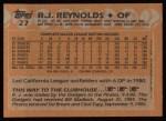 1988 Topps #27  R.J. Reynolds  Back Thumbnail