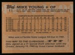1988 Topps #11   Mike Young Back Thumbnail