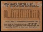1988 Topps #71  Gary Pettis  Back Thumbnail