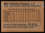 1988 Topps #453   Dennis Powell Back Thumbnail