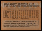 1988 Topps #139   Jerry Browne Back Thumbnail